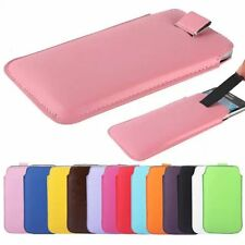 PU Leather PULL Cord TAB Pouch Wallet Bag Skin Cover Case For nokia asha 302