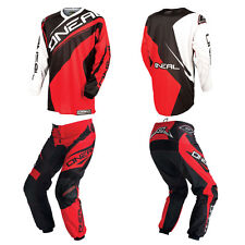 O'Neal Element Red Motocross Riding Gear MX Off-Road Dirt Bike Jersey Pants Set