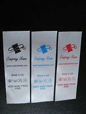 Custom design SuperSoft Satin Garment Care Labels - 100pcs