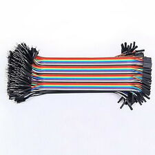 40PCS Jumper Wire Cable 1P-1P 2.54mm 20cm For Arduino Breadboard Sale New  hg