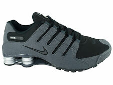 CLASSIC MENS NIKE SHOX NZ RUNNING SHOES TRAINERS BLACK   ANTHRACITE   MET  SILVER 96f8fb575