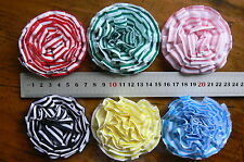 Bright Striped Fabric Flowers 6 Colours approx 7-8cm Manor House MultiList