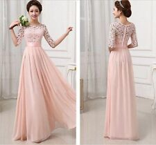 New Long Bridesmaid Prom Gown Evening Formal Party Cocktail Prom Maxi Dress