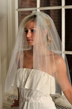 New 1T Cut Edge White/ivory Bridal Schleier Wedding Accessory Veils With Comb
