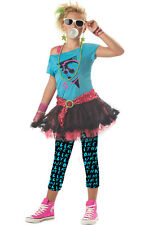 Child Girls 80's Valley Girl Cosplay Halloween Costume Fancy Dress