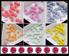 20 X 3D Glitter Rose Acrylic Slices Rhinestone Nail Art Tips Decoration DIY 6mm