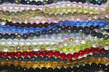 Glass Beads - 6 mm- Round Faceted -72 Facets-Five (5) Strands (About 330 Beads)