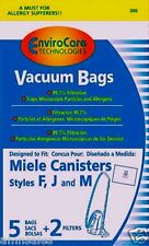 Miele FJM ALLERGEN Canister Vacuum Bags Filter S200 S300 S500 S700 S4000 7291640
