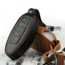 Leather Remote Key Fob Case Holder Cover Fit  Nissan QASHQAI TIIDA -3-Buttons