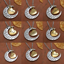 Fashion New Charms Jewelry I Love You To The Moon And Back Necklace Pendant 2015
