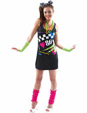 I Love the 80s Dress Rewind Festival 1980s Fancy Dress Eighties Ladies Outfit