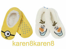 Primark Disney congelados de la OLAF Zapatillas calcetines Ladies Girls o Minions