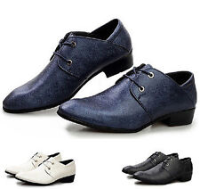 Crazy cheap Mens casual Lace Up Pointed Wedding Loafers Office Shoes Sneakers