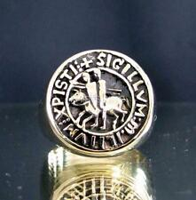 BRONZE SIGNET RING TEMPLAR KNIGHT SEAL COAT OF ARMS MEDIEVAL HORSE ANY SIZE
