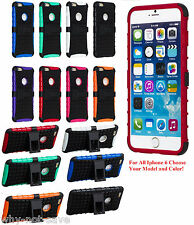 """Premium Deluxe Hard Case Cover for iPhone 6 6th gen 4.7"""" & 5.5"""" Plus with stand"""