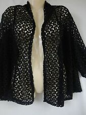 New Catherines Black Sexy Lace Crochet Cardigan Jacket 0X 1X 2X Womens Plus
