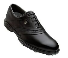 CloseOut Mens FootJoy SuperLites 58166 Black WaterProof Leather Golf Shoes