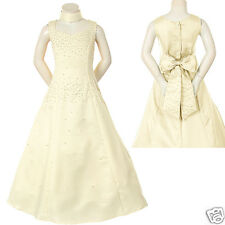 New Girl National Pageant Weding Easter Formal Party Dress Ivory  8 10 12 14 16