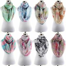 New Women's Fashionable Infinity Paisley Pattern Two Tones Scarf