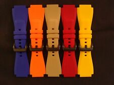 Zodiac ZMX-01 Replacement 24mm Silicone/Rubber Strap/Band PVD Stainless 24 mm