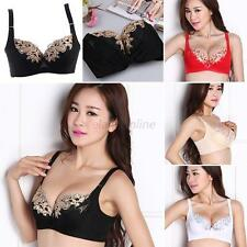 New Womens Lady Cute Sexy Underwear Lace Embroidery  Brassiere Bra Push-Up Bras
