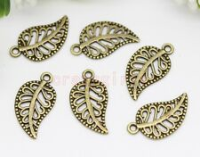 60/150pcs Zinc alloy beautiful maple leaf Jewelry Finding Charm Pendant 18x10mm