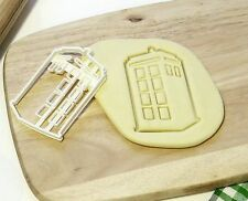 Dr Doctor Who Tardis Cookie Cutter Cupcake topper Fondant Gingerbread Cutter