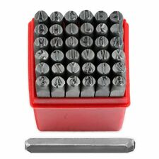 "36pc Alphabet Letter Number Stamp Punch Set 1/8"" Stamping Kit Metal Wood Leather"