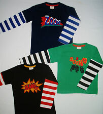 New Mini Boden Tshirt Top Long Sleeve Zoom  Boing or Bang  2 - 5 years