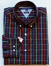 NWT Mens Tommy Hilfiger Custom Fit Long Sleeve Plaid Shirt