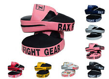 R A X Focus Pad,Hook & Jab Mitts,Boxing Punch Gloves Bag Kick Thai Curved MMA