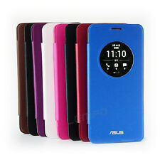 Ultra-Thin Slim Circle Window Flip PU Leather Case Cover For ASUS ZenFone 5 6