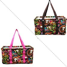 All Purpose Carry it All Large Collapsible Monkey Print Utility Tote Bag