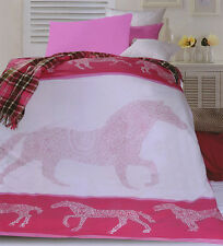 GALLOPING HORSE Children Girls Quilt / Duvet / Doona Cover Set - SINGLE DOUBLE