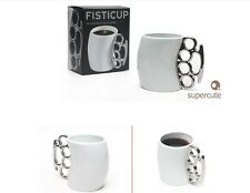 Knuckle Duster Mug Fisticup Finger Handle Brass Ring Fist Coffee Milk Cup Gift