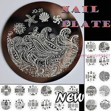 Fashion Designs Metal Nail Art Printing Image Stamping Template Stamp Plate 21Ts