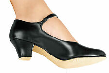 "NEW! SO DANCA 1.5"" CHARACTER SHOE. SUEDE & LEATHER SOLE. BLACK OR TAN / TAUPE."