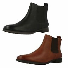 Ladies Clarks Mariella Busby Black Or Dark Tan Smart Chelsea Boots D Fitting