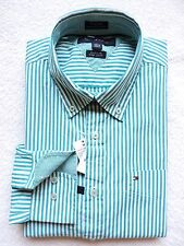 NWT Tommy Hilfiger Mens Custom Fit L/S Striped Shirt