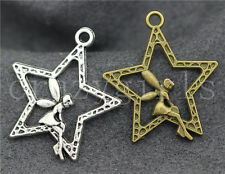 New 10pcs Antique Silver/Bronze Lovely stars girl Fit DIY Charms Pendant 29x25mm