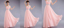 Women Sexy Chiffon Long New  Prom Ball Cocktail Party Formal Evening Gown Dress