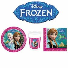DISNEY FROZEN PARTY SUPPLIES TABLEWARE DECORATIONS PACK FOR 8, 16, 24 GUEST
