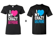 I Love My Crazy Boyfriend/Girlfriend Couple Matching Shirts. Couple Shirt. V-day