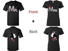 Mr and Mrs, Kissing Cartoons Couple Matching T-shirts. Valentine's Day Gift!