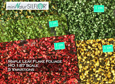 miniNatur Silflor Maple Foliage Scale Model Scenery Leaves War Game HO RR Tree