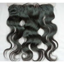 Unprocessed Brazilian Virgin Human Hair Body Wave Full Frontal Lace Closure 13x4