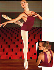 NEW! WOMENS DANCE BALLET LEOTARD WITH THICK STRAPS. 6 DIFFERENT COLORS! (d291)