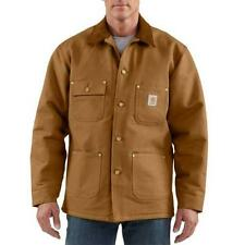 Mens Coat Carhartt C001 Duck Chore Jacket Blanket Lined Assorted Sizes & Colors
