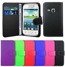Fashion High Quality Leather Wallet Case Cover For Samsung Galaxy Young S6310