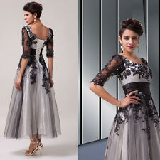 Gorgeous Long Lace Mother Of The Bride Dress Formal Evening Dresses Tea Length h